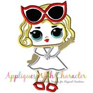 LOL Leading Lady Doll Applique Design