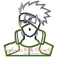 Ninja Bust Applique Design