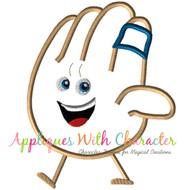 Emoji Hand Applique Design