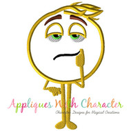 Emoji Meh Applique Design