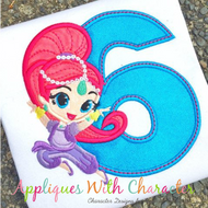 Shimmer Six Applique Design