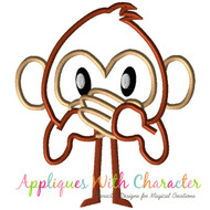 Emoji Monkey Applique Design