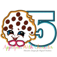 Five Shopkin Cooky Cookie Applique Design