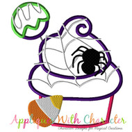 Halloween Cupcake Applique Design