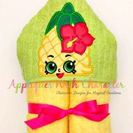Shopkin Pineapple Peeker Applique Design