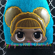 LOL Glitter Doll Peeker Applique Design