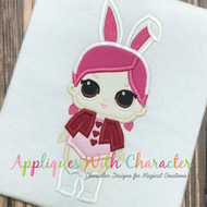 LOL Bunny Doll Applique Design