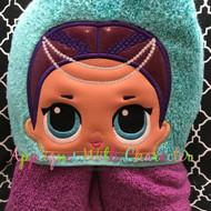 LOL Mermaid Doll Peeker Applique Design