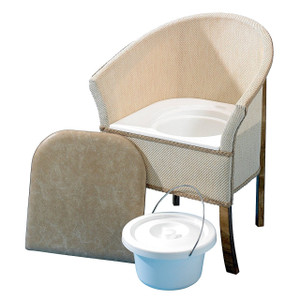 Bedroom Basket Weave Commode Chair
