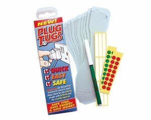 Plug Tugs - Easy Plug Pullers - Includes Labels & A Pen - Pack of 10