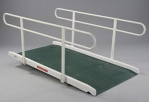 Wide Ramp with Double Handrail