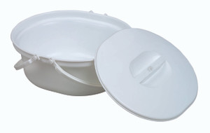 Extra Wide Doherty Commode Pan & Lid