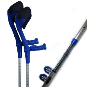 New Walk' Ultimate Spring Loaded Padded Adjustable Crutches