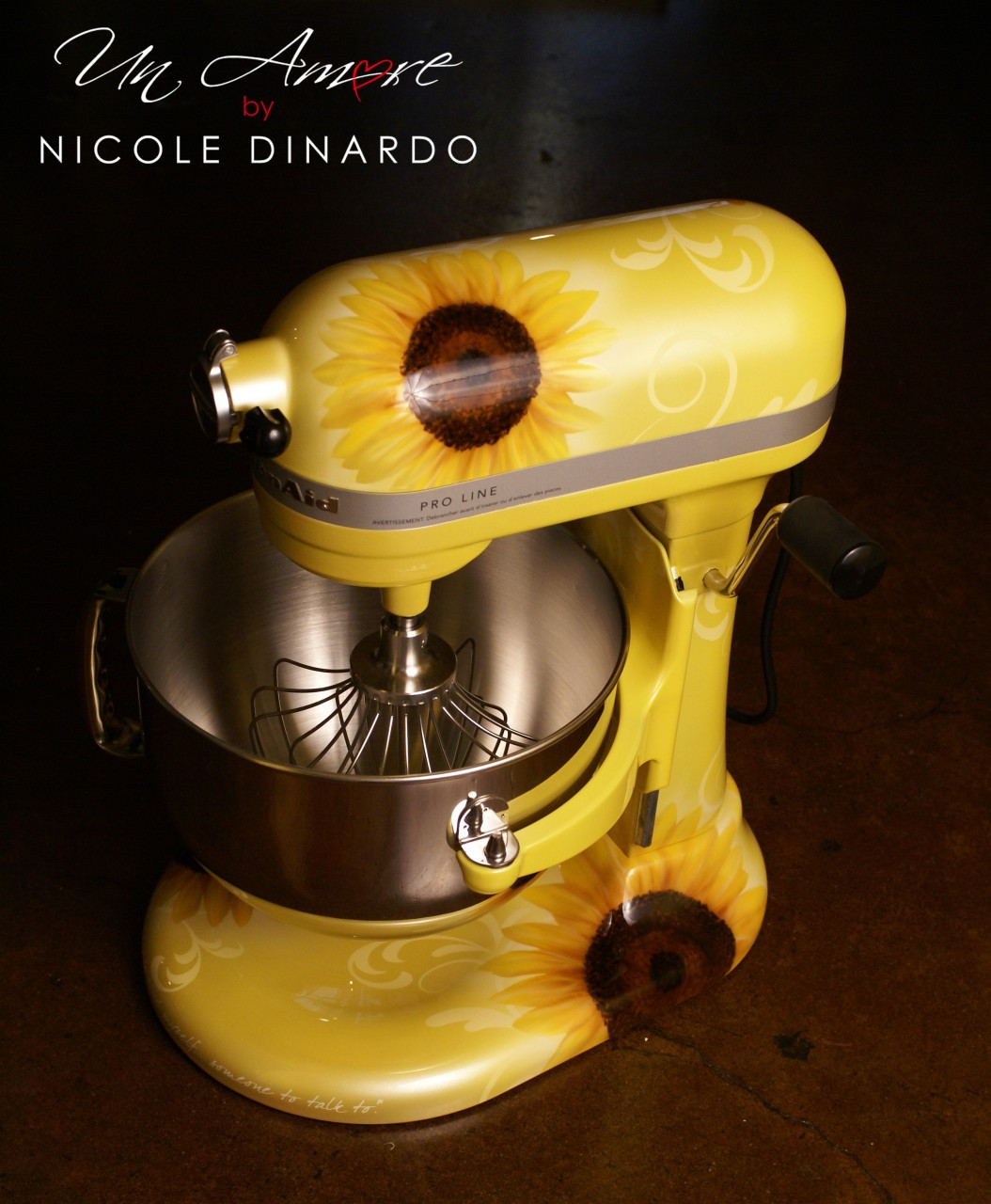 Sunflower Custom KitchenAid Mixer *ARTWORK ONLY {mixer Not Included}