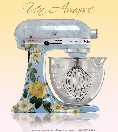Floral theme Custom KitchenAid *ARTWORK ONLY {mixer not included}