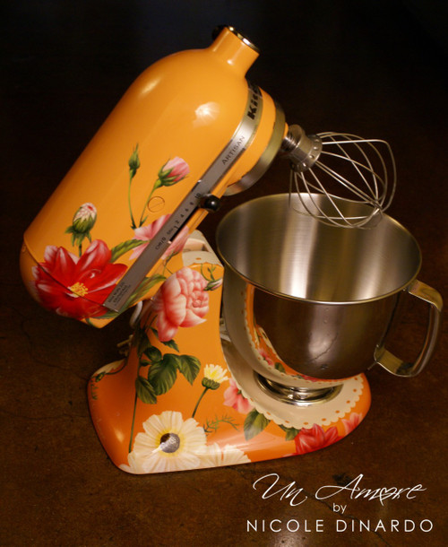 """EXCLUSIVE - The """"Original"""" Pioneer Woman Edition Custom Floral KitchenAid Mixer {Artisan Series mixer Included}"""