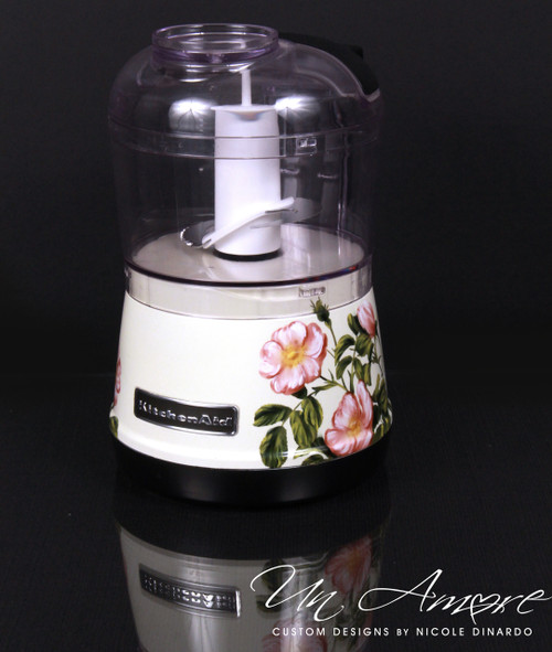 Custom Floral Painted KitchenAid 3.5-Cup Food Chopper
