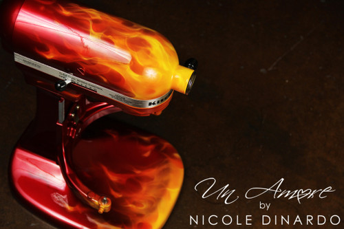 Realistic Fire / Flamed Custom KitchenAid *ARTWORK ONLY {mixer not included}