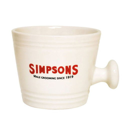 Simpsons Cream Wet Shaving Mug – Large | Agent Shave