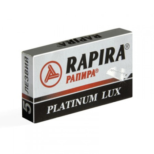 Rapira 'Platinum Lux' Double Edge Razor Blades | Agent Shave