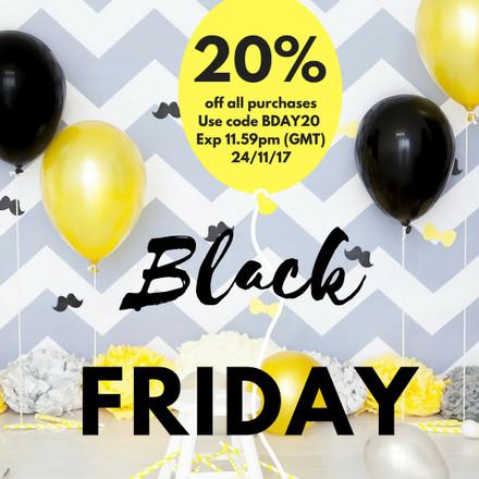 Birthday Black Friday - 20% off!