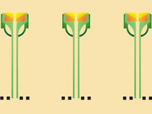Roycroft Dard Hunter Flower 13 X 7.25