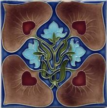 Porteous V33 Art Nouveau Tile