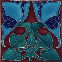Porteous V20A Art Nouveau Tile