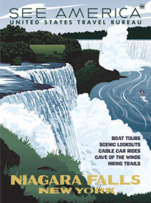 Niagara Falls WPA-Style Poster