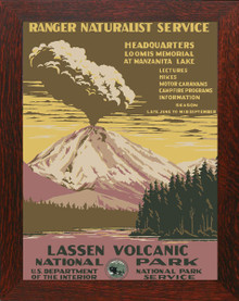 Lassen Volcanic National Park Poster Framed