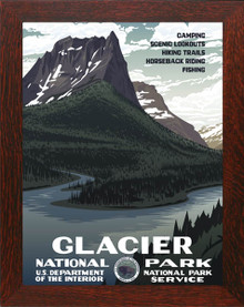 Glacier National Park Framed Poster