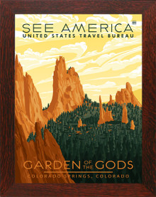 Colorado Garden of the Gods Framed Poster