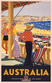 Australia, Bondi Beach, New South Wales by Percy Trompf, 1929