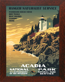 Acadia National Park WPA Poster Framed