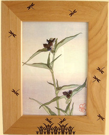 5X7 Dragonflies and Cattails Picture Frame