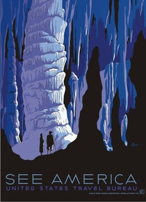 S&D Carlsbad Caverns See America WPA Poster