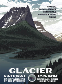 S&D Glacier National Park Poster