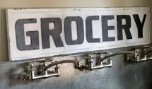 Grocery Metal Sign