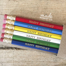 Happy Birthday Boys Pencils Set