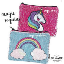 Unicorn To Rainbow Reveal Sequin Pouch