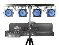 Chauvet DJ 4BAR LED Front Wash Lighting, Tripod, Footswitch, Carry Bag