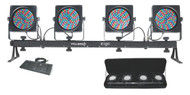 Chauvet DJ 4BARFLEX LED Front Wash Lighting, Footswitch, Carry Bag, L-Brackets