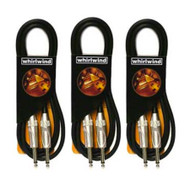 (3) Pack! Whirlwind ZC01 Instrument Guitar Cable, 1 ft