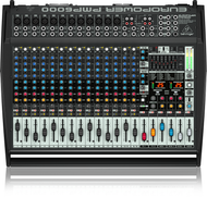Behringer PMP6000  Power Mixer, 20 Channel (12 Mono + 4 Stereo), 2 x 800W Stereo or Dual Mono, 1600W Bridged Mono