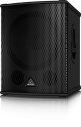 "Behringer EUROLIVE B1500HP  15"" 2200 Watt Active Subwoofer with Turbosound Woofer and Onboard Crossover"
