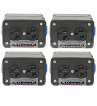 4pk PowerCon Rubber Quad Box Power Distribution Twist-Lock Distro link