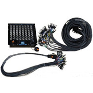 CBI 32 Rackmount Splitter 10ft Mon, 50ft Main microphone Snake w/Disconnects
