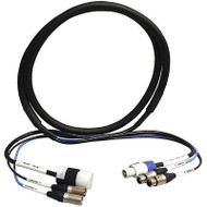 Rapco 50ft Neutrik PowerCon 15A/125V Edison/3-Pin XLR-M & XLR-F Powered Speaker Cable