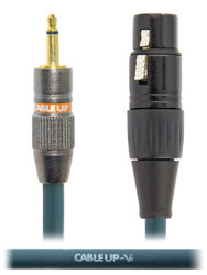"Cable Up XF3-M2-3 Cable, XLR-F to 1/8"" TS-M Unbalanced Mini-Plug, 3 Ft"