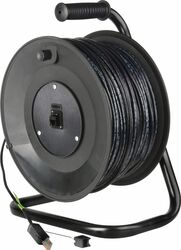 Cable Reel w/328ft Cat5 Belden 1583 Datatwist ProShell RJ45 Connectors